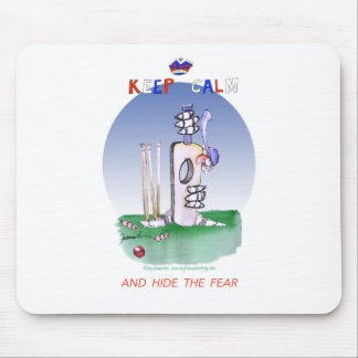 keep calm and hide the fear, tony fernandes mouse mat