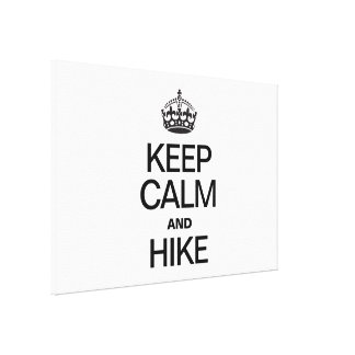 KEEP CALM AND HIKE CANVAS PRINT