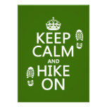 Keep Calm and Hike On (any background colour)