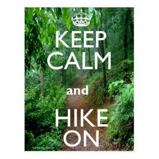 Keep Calm and Hike On Postcard