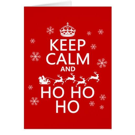 Keep Calm and Ho Ho Ho - Christmas/Santa Greeting Cards