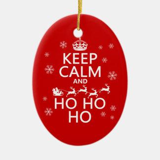 Keep Calm and Ho Ho Ho - Christmas/Santa Christmas Ornament