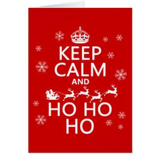 Keep Calm and Ho Ho Ho - Christmas/Santa Greeting Card