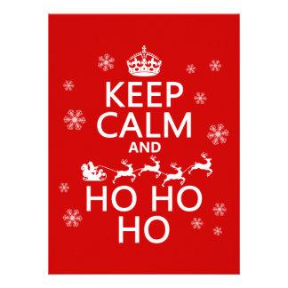 Keep Calm and Ho Ho Ho - Christmas Santa Invitation