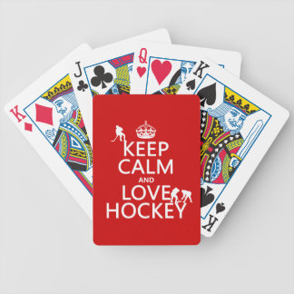 Keep Calm and Hockey On Bicycle Playing Cards
