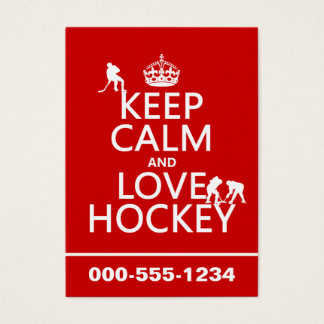 Keep Calm and Hockey On Business Card