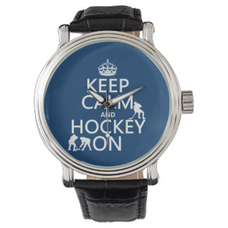Keep Calm and Hockey On (in any color) Watch