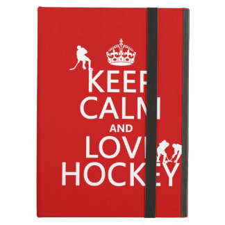 Keep Calm and Hockey On iPad Air Case