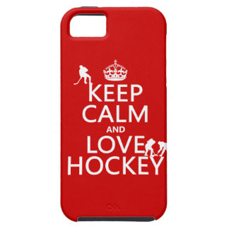 Keep Calm and Hockey On iPhone 5 Cover
