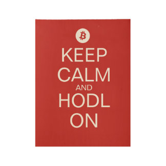 Keep Calm And Hodl On Poster