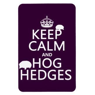 Keep Calm and Hog Hedges (Hedgehogs) (all colors) Rectangular Photo Magnet