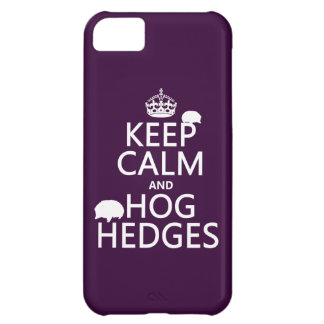 Keep Calm and Hog Hedges (Hedgehogs) (all colors) iPhone 5C Case