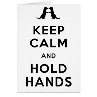 Keep Calm and Hold Hands Otters Holding Hands Card