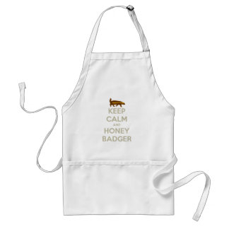 Keep Calm and Honey Badger Apron