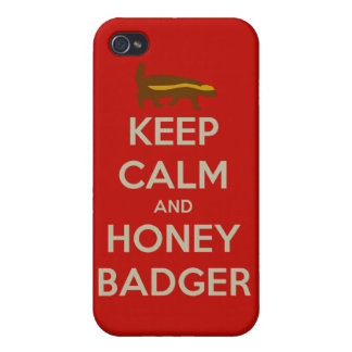 Keep Calm and Honey Badger Case For iPhone 4