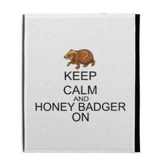 Keep Calm And Honey Badger On iPad Folio Cover
