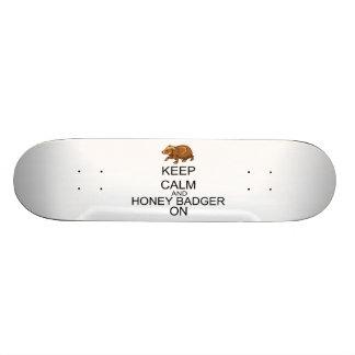 Keep Calm And Honey Badger On Skate Decks