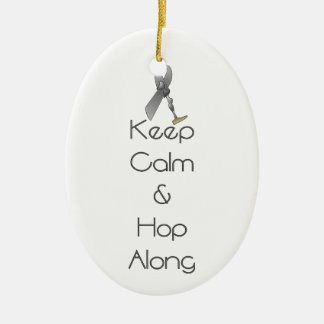 Keep Calm and Hop Along Christmas Ornament