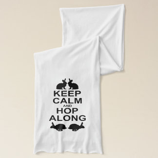 Keep Calm and Hop Along Scarf (for Light Colours)