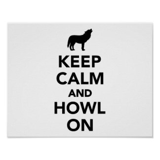 Keep calm and howl on wolf print