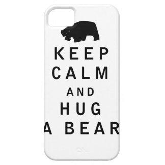 Keep Calm and Hug a Bear iPhone 5/5S Cases