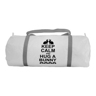 Keep Calm and Hug a Bunny Gym Bag (choose colour)