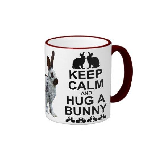 Keep Calm and Hug a Bunny Mug