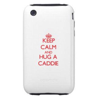 Keep Calm and Hug a Caddie Tough iPhone 3 Case