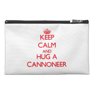 Keep Calm and Hug a Cannoneer Travel Accessories Bags