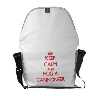Keep Calm and Hug a Cannoneer Courier Bag