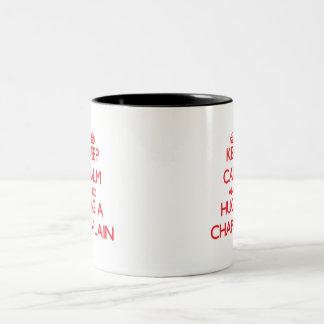 Keep Calm and Hug a Chaplain Two-Tone Coffee Mug