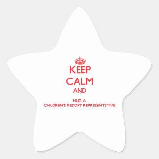 Keep Calm and Hug a Children's Resort Representati Stickers