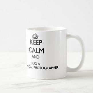 Keep Calm and Hug a Commercial Photographer Basic White Mug