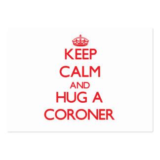 Keep Calm and Hug a Coroner Business Card