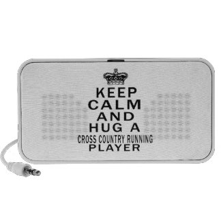 Keep Calm And Hug A Cross Country Running Player Laptop Speakers