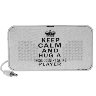 Keep Calm And Hug A Cross Country Skiing Player Laptop Speakers