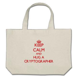 Keep Calm and Hug a Cryptographer Bags
