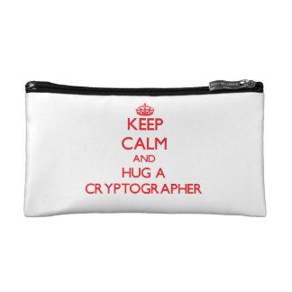 Keep Calm and Hug a Cryptographer Makeup Bag