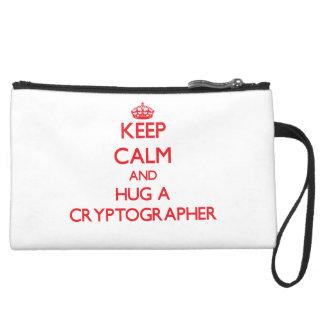 Keep Calm and Hug a Cryptographer Wristlet Clutch
