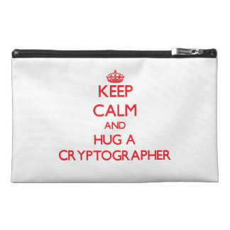 Keep Calm and Hug a Cryptographer Travel Accessories Bags