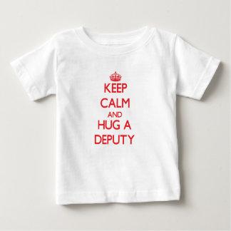 Keep Calm and Hug a Deputy Baby T-Shirt