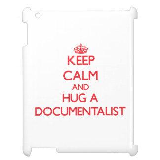 Keep Calm and Hug a Documentalist iPad Covers