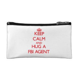 Keep Calm and Hug a Fbi Agent Makeup Bags