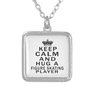 Keep Calm And Hug A Figure Skating Player Necklace