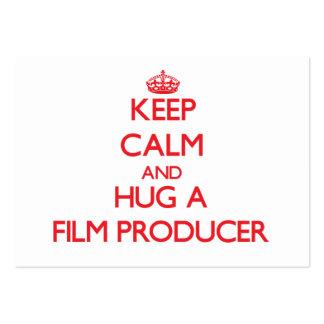 Keep Calm and Hug a Film Producer Business Card