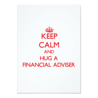 Keep Calm and Hug a Financial Adviser Personalized Invitation