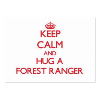 Keep Calm and Hug a Forest Ranger Business Card