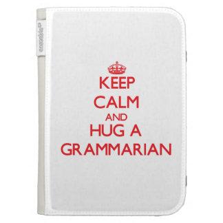 Keep Calm and Hug a Grammarian Kindle Keyboard Covers