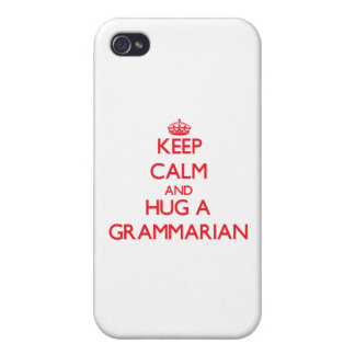 Keep Calm and Hug a Grammarian iPhone 4/4S Cases
