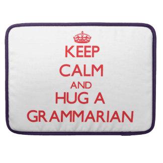 Keep Calm and Hug a Grammarian Sleeve For MacBooks